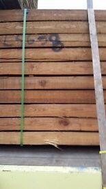25 8x4x 2.4 metres brown sleepers new