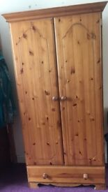 Sturdy Pine Wardrobe - Good Condition