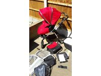 Silver Cross Wayfarer Stroller, Carry Cot and Accessories