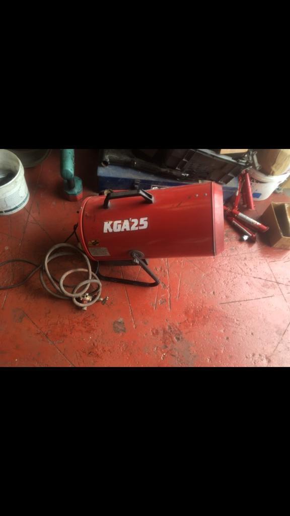 Gas space heater workshop heater kongskilde
