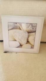 Free canvas. Heart stones