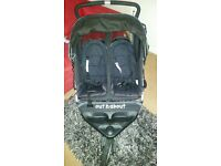 Out n About Nipper 360 Raven Black Jogger Double Seat buggy Stroller twins
