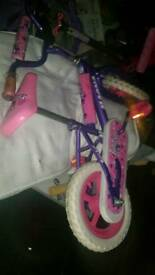 Pink bicycle for baby girl