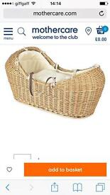 Moses basket barely used