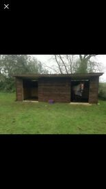Made to measure field shelters, stables, outbuildings
