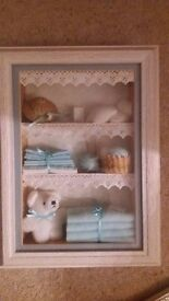 Hand made boxed wall hanging / picture