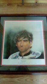 Joey Dunlop limited edition print (framed)