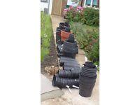 Free plastic gardening pots
