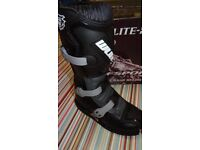 wulfsport motocross motox quad boots kids youth junior size 34 in black