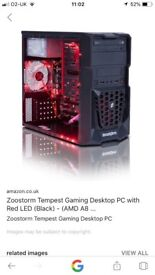 Zoomstorm tempest gaming pc and fx-4300 quad core 8gb 1tb dvd rw wifi