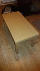 New oak effect coffee table