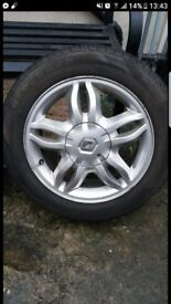 Renault Clio 15 inch mahonia alloy wheels