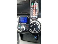 car fm transmitter blootooth mp 3 player hands free phone connecter