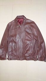 Leather jacket, good quality, dark brown, medium size, Purchased from Selfridges