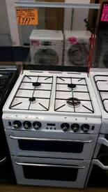 NEWWORLD WHITE  60CM DOUBLE OVEN GAS COOKER