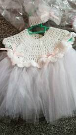 Brand new hand knitted baby dress