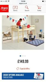 Shorty mid sleeper bed and mattress