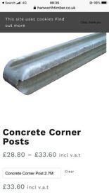 Concrete corner post