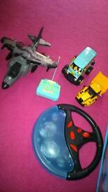 Toys cars Scooby remote control ect