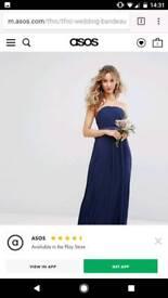 TFNC WEDDING Bandeau Maxi Dress with Bow Back Detail