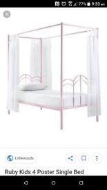 Pink princess bed