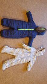 Polar Bear Onesie Outdoor Coat and a Blue Onesie Coat