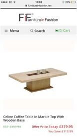 Marble coffee table & console table