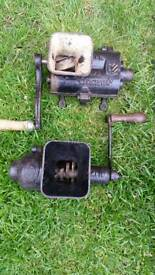 vintage cast iron hand mincers