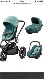 QUINNY MOODD 3 IN 1 NEARLY NEW NOVEL NILE PUSHCHAIR