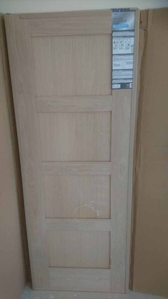 Wickes Marlow 4 Panel Oak Veneer Interior Door In Weston Super
