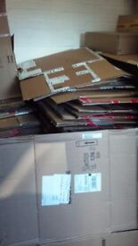 Second hand cardboard boxes.