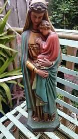 Vintage large plaster statue