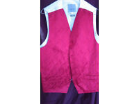 Mens Waistcoat Red Size 42R