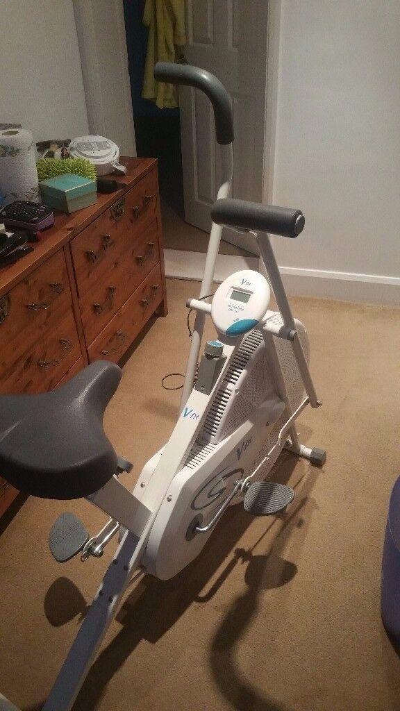 Beny U.K. V-FIT Apollo air cycle ac2 exercise bike White + Grey