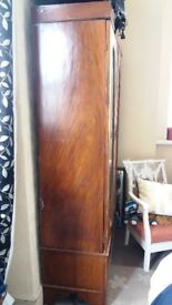 Victorian Satin Wood /Pine double doored wardrobe, Free ( see Description )