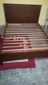 King size real wood bed Can deliver