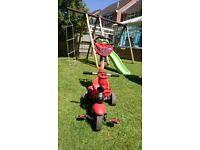 4 in 1 red ladybird smart trike (10 months - 5yrs)