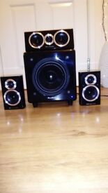 Wharfedale Sub Woofer and Speakers