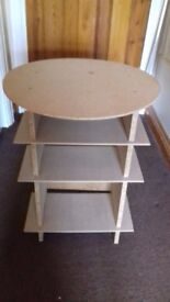Small chipboard side table
