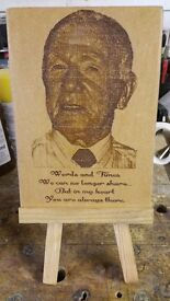 Bespoke Personalized Wooden Plaques, A Keepsake that will last a lifetime.