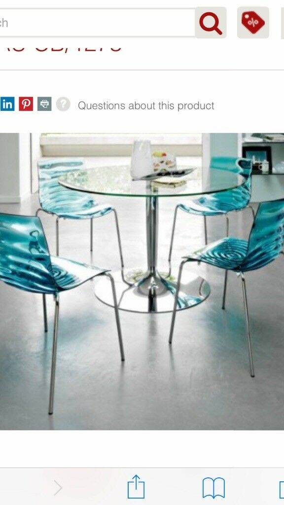 Calligaris L\'eau Dining Chairs and Glass Table | in Exeter, Devon ...