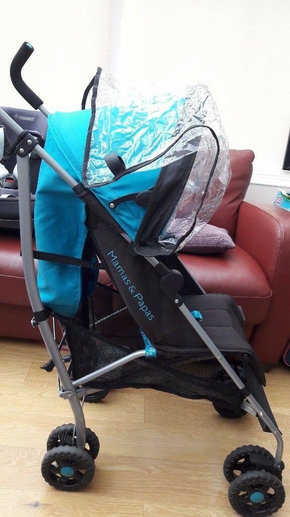 Mamas & Papas fold down stroller - blue, very good condition. £45