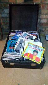 Box of goldie oldie singles