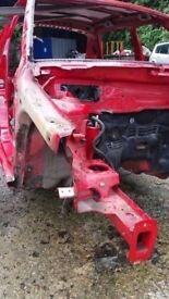 2008-2014 MK2 SKODA FABIA OSF FRONT DRIVERS SIDE INNER WING / CHASSIS LEG CUT OUT IN RED