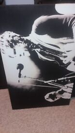 Kings of Leon Black and White Canvas