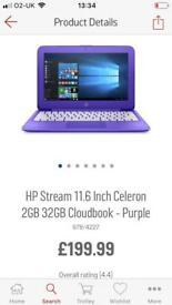 HP laptop and printer