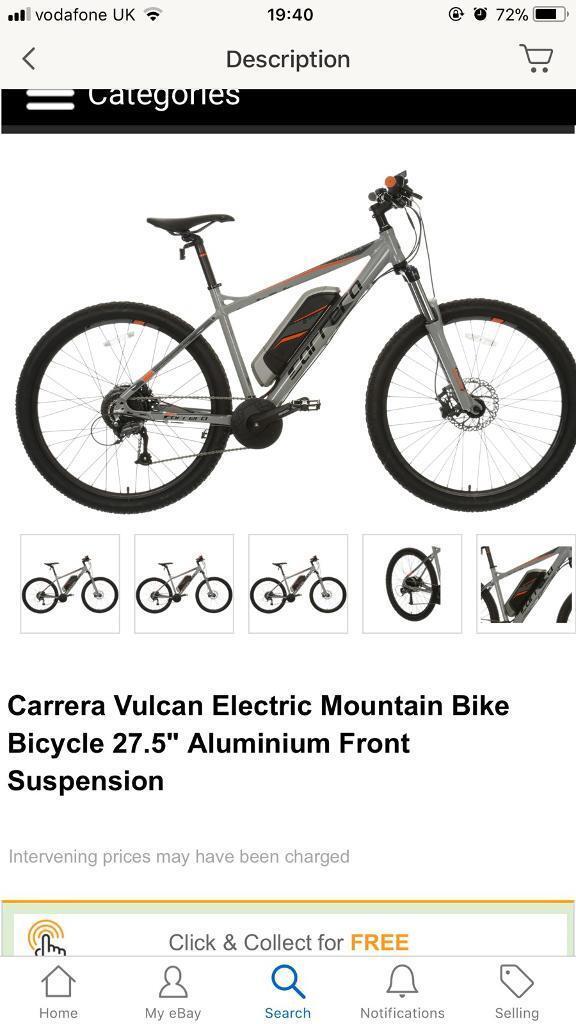 Carrera Vulcan electric bike 18 inch frame 27.5 wheels | in Durham ...