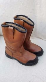 Brown Site Gravel Rigger Boots