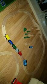 2 wooden train sets early learning