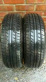 2 X 185 65 R15 IMPERIAL TYRES, 8 MM TREAD DEPTH, 1 YEAR OLD, EXCELLENT CONDITION